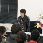 メッセージを送る台湾の留学生
